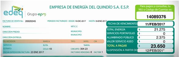 Factura EDEQ