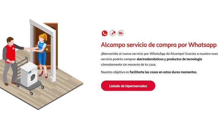 Alcampo empieza a vender tecnología y electrónica por Whatsapp | Compañías  | Cinco Días