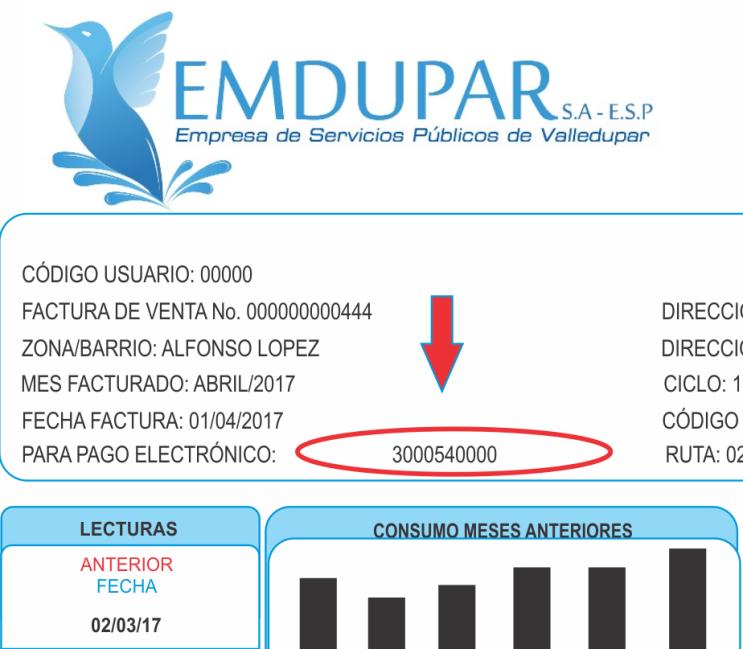 Factura Emdupar Pago en Linea PSE - Tramites Colombia