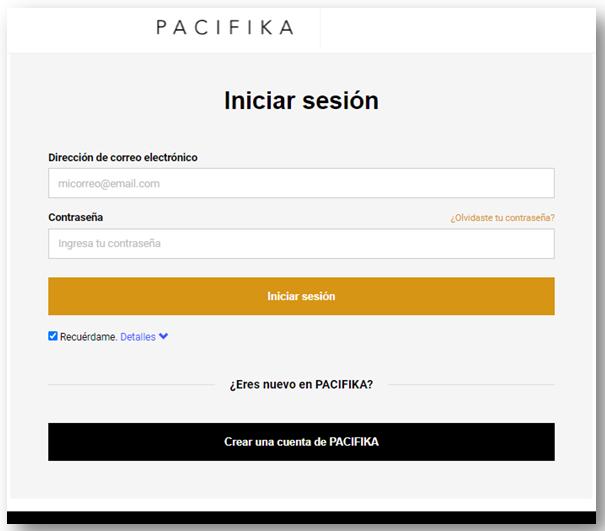 Factura Pacifika Pago en Linea PSE